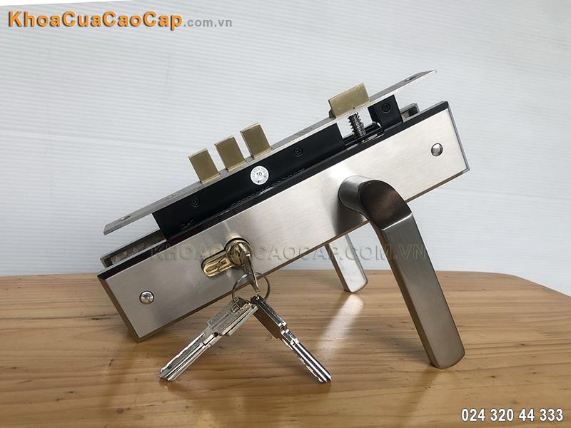 Khóa cửa gỗ Huy Hoàng EX-8533